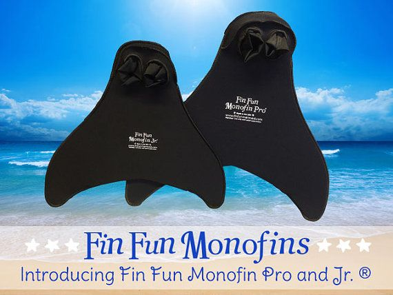 Mermaid Tail Monofin Flipper. Made for Fin Fun Mermaid tails. Light, Comfortable, and Realistic! Great for Exercise! on Etsy, $44.95