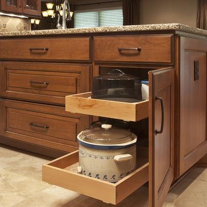 Rolling Drawers For Kitchen Cabinet Kitchen Pinterest Kitchen Cabinet Organization