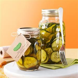 Easy Refrigerator Pickles Recipe -This is a great way to use cucumbers and onions from the garden. Here in Upstate New York, we have an abundance of cucumbers. —Catherine Seibold, Elma, New York