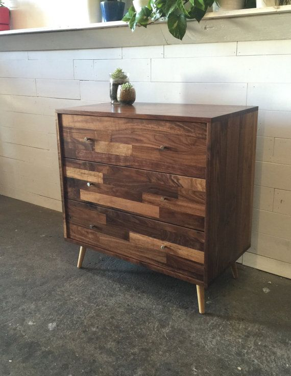 Mid Century 3 Drawer Dresser With Mixed by jeremiahcollection