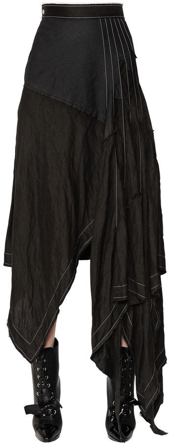 Loewe Asymmetric Linen Skirt