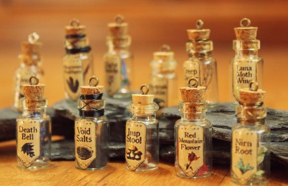 Skyrim Inspired Alchemy Ingredient Pendant