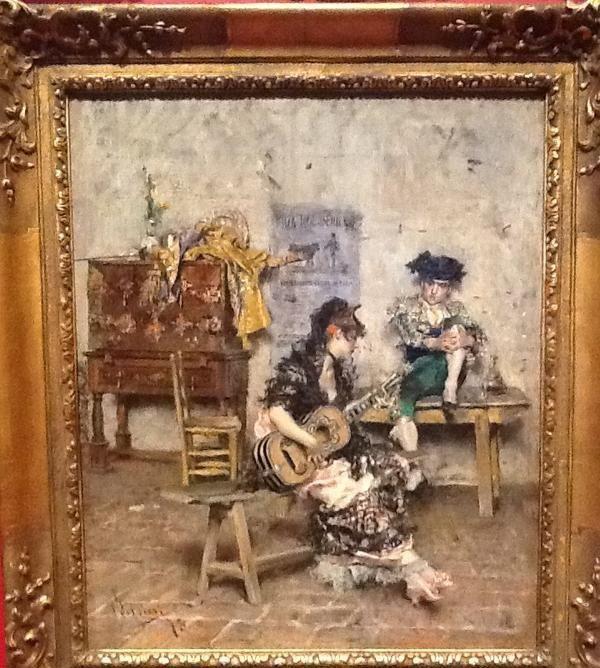"Guitar Player"" 1872.Painting by Giovanni Boldini (Ferrara 1842-Paris 1931)."