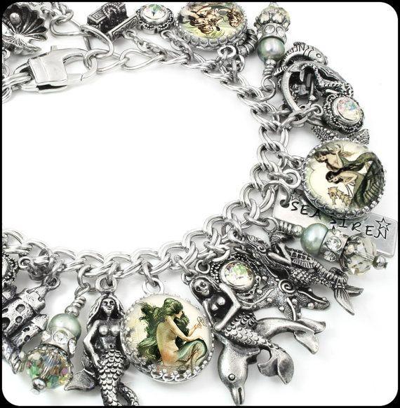 Mermaid Charm Bracelet Mermaid Bracelet von BlackberryDesigns
