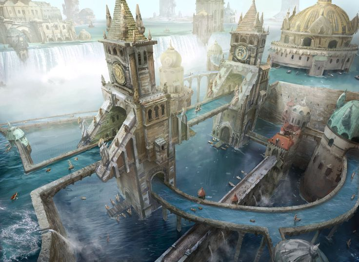 This is the closest art I've EVER seen to capturing what's in my head for the Nubrevnan capital of Lovats.....gorgeous!