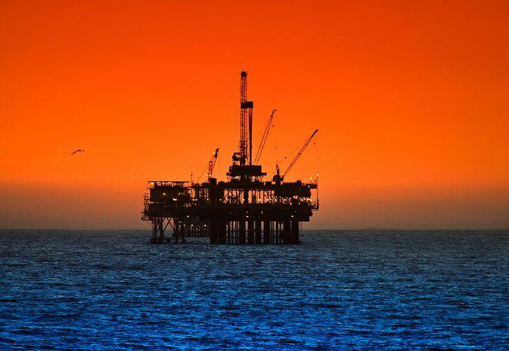 Long Beach and Huntington Beach at sunsetHuntington Oil, Long Beach ...
