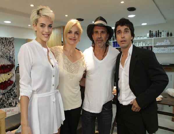 Alvaro, Emilia, Viviana y Osvaldo Laport