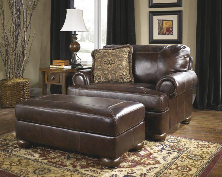 Matching OVERSIZED Chair W/ Ottoman