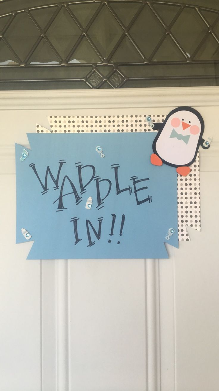 Penguin Baby Shower Welcome sign                                                                                                                                                                                 More