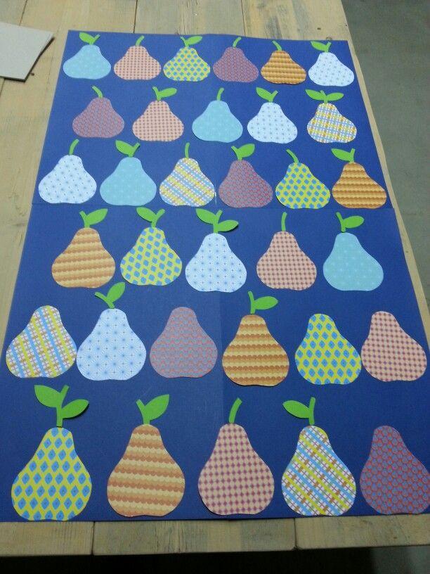 Peren # raamdecoratie school # herfstfruit