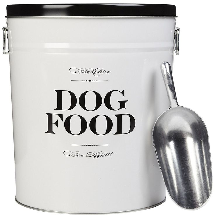 Harry Barker Dog Food Storage Canister - Bon Chien - Black - 22 lb ** You can get more details here : Dog food container