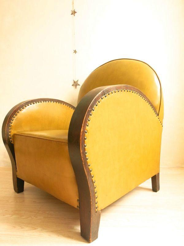fauteuil club ann es 30 mobilier ann es 30 pinterest art deco upholstery and art deco. Black Bedroom Furniture Sets. Home Design Ideas
