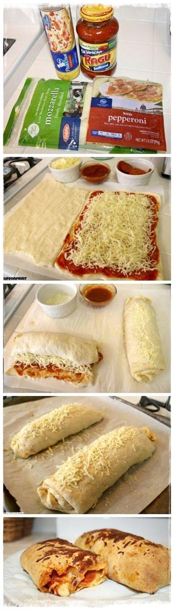 Easy Pizza Roll Ups Recipe
