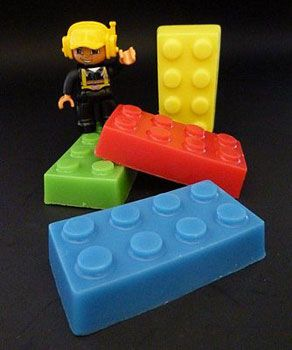 Handmade Lego Soap Bricks