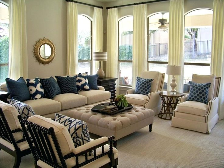 INSPO - Tan Living Room Gray Blue And Sectional Decor ...