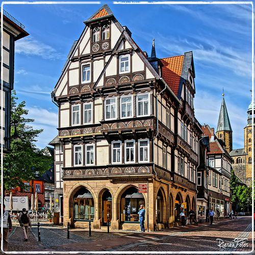 Impressionen aus Goslar - Fachwerk und Schiefer bestimmen das Bild der Altstadt.
