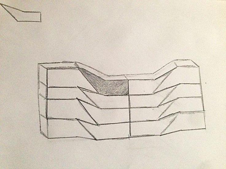 en segundo lugar dibujé mas módulos iguales y los encaje entre si creando la red modular.