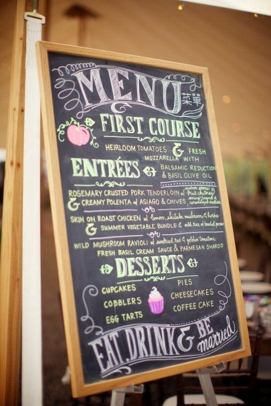 41 best chalkboard menus images on Pinterest