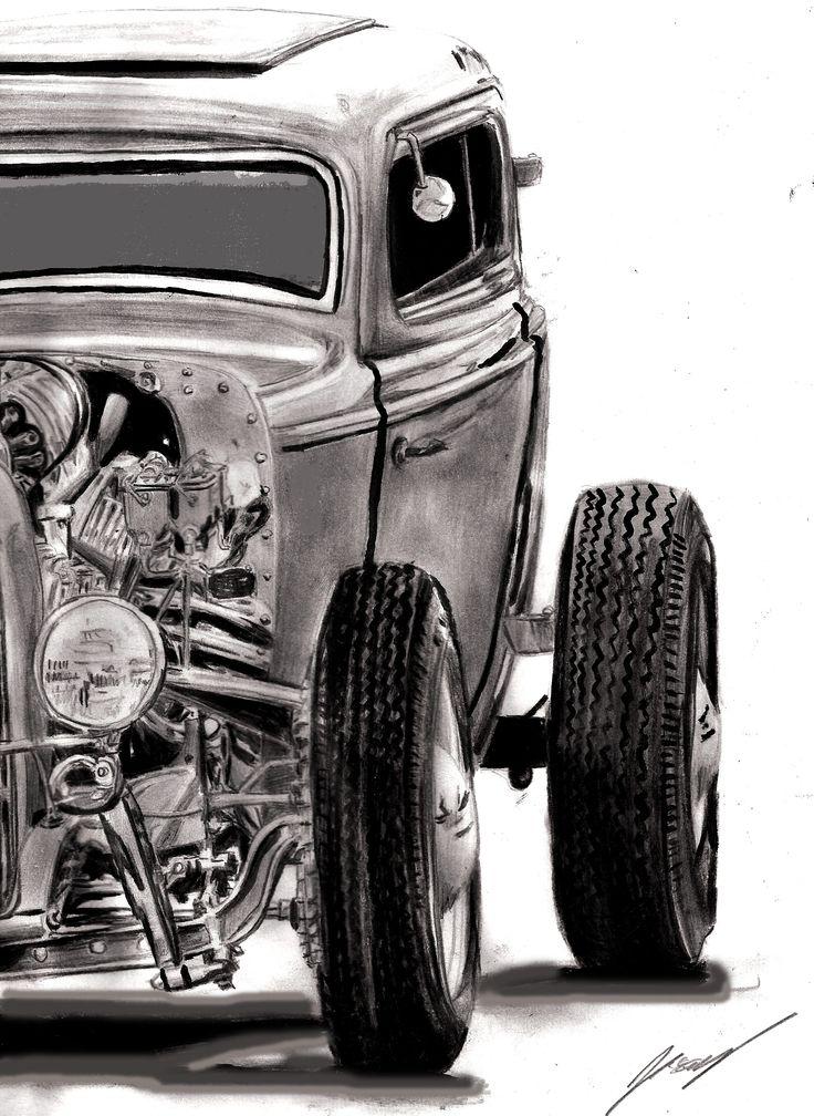 Hot rod pin up girls drawings bing images custom cars amp bikes