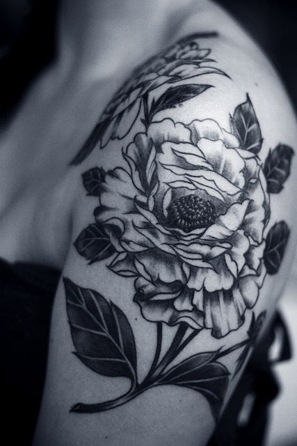 Alice Carrier #floral #tattoo #ink