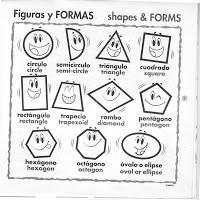 Pinta y aprende las figuras geométricas en inglès