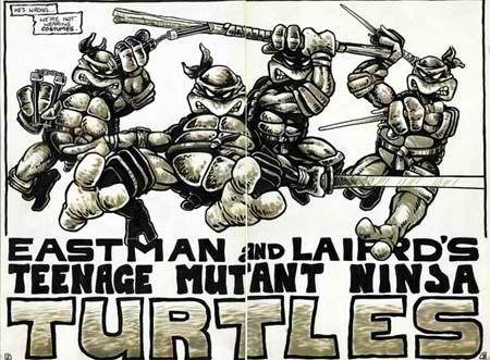 Original TMNT comic book art  https://www.facebook.com/pages/The-Nerd-Rave/113442648801172