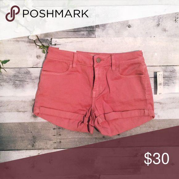Pacsun bullhead darker pink/blush/nude shorts Super stretch shorty bullhead shorts from pacsun NWT PacSun Shorts Jean Shorts