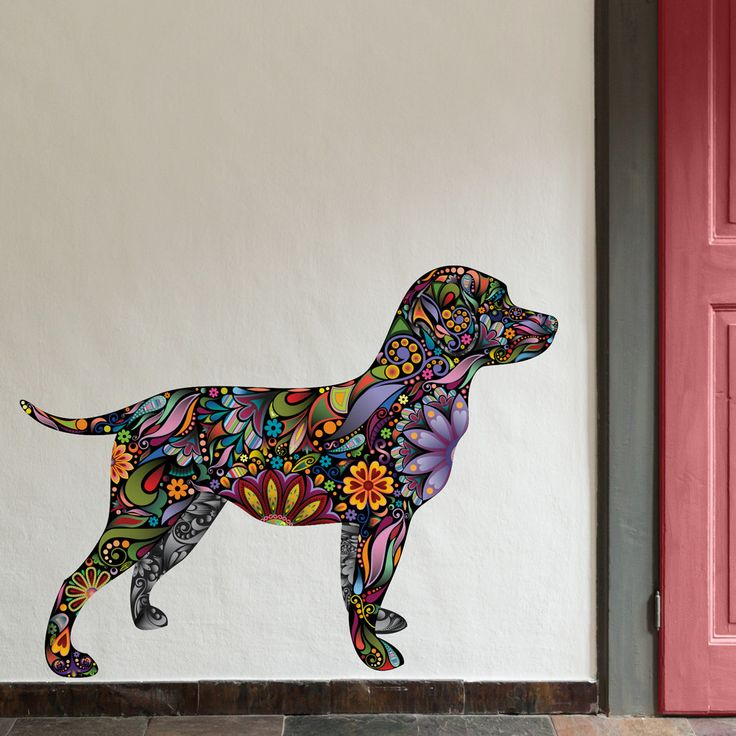 142 best pet grooming images on pinterest dog grooming business labrador retriever dog decal wall sticker solutioingenieria Image collections