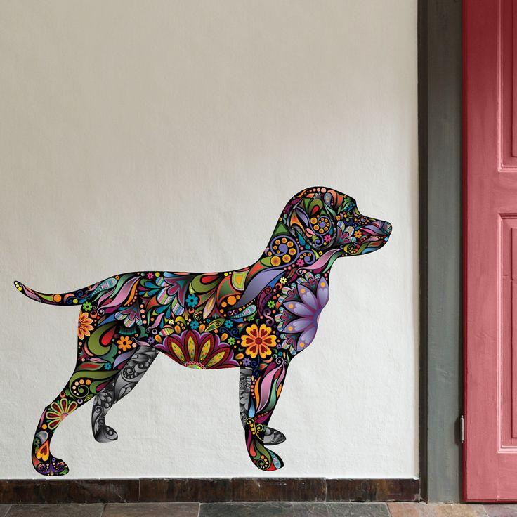 Labrador Retriever Dog Decal Wall Sticker