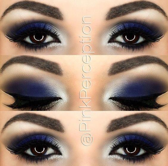 @PinkPerception blue smokey eye #blueeyemakeup #Eyemakeup