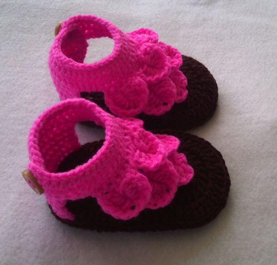 crochet baby crocodile sandals Crochet baby flip by MrsWalshshop