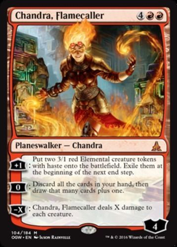 Chandra, Flamecaller mtg Magic the Gathering Oath of the Gatewatch red planeswalker mythic rare