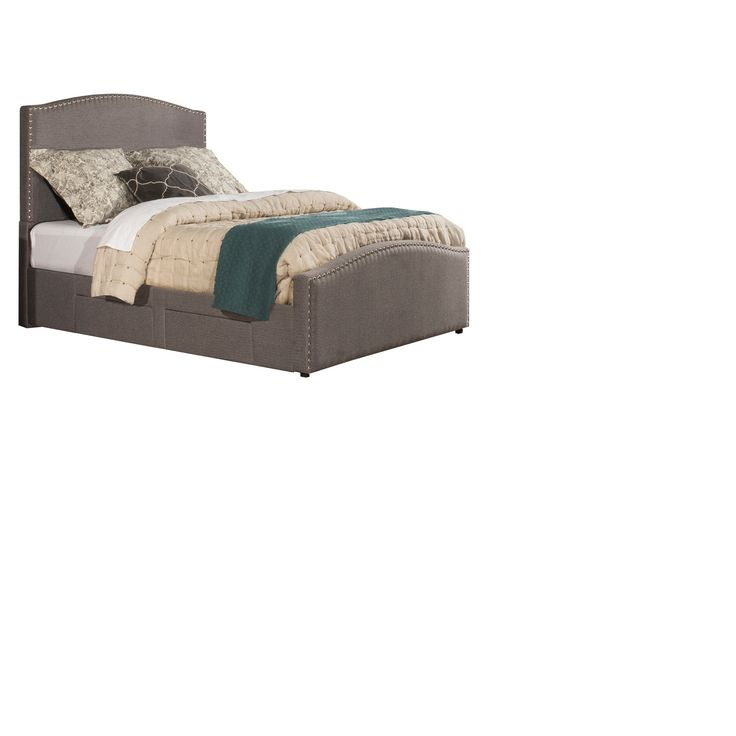 Kerstein Upholstered Adjustable Storage Bed - California King - Orly Gray - Hillsdale Furniture, Gray Shadow