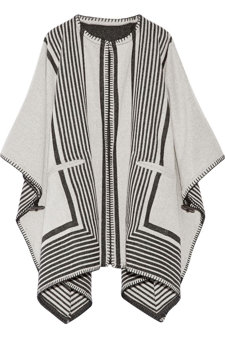 MiH Jeans|Oversized reversible wool-blend poncho|NET-A-PORTER.COM