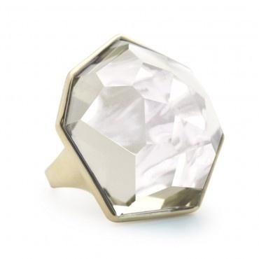 Ippolita Modern Rock Candy Ring w/ Large Clear Quartz.