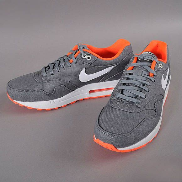 Nike Air Max 1 Premium Total Crimson - Cool Grey & White | NikeAirMax1.com