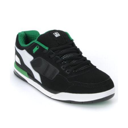 Globe Shoes Viper Black, White & Green Skate Shoe