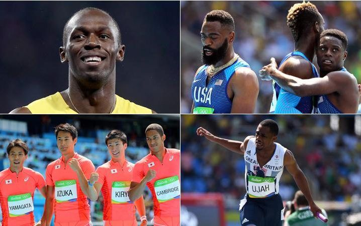 Mens 4x100 relay.