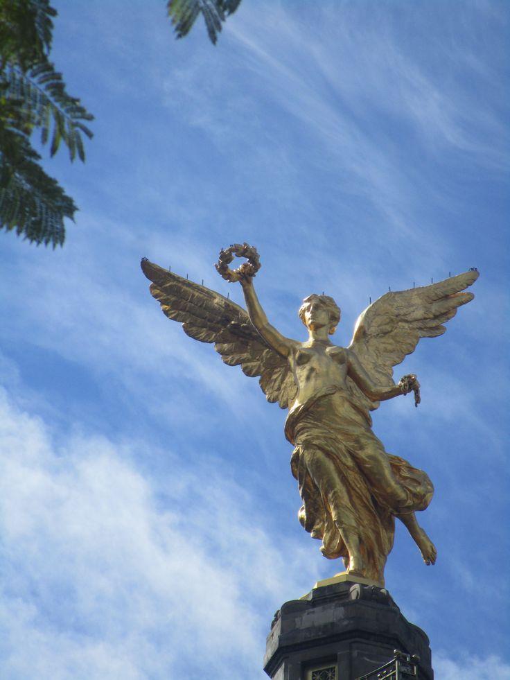 Monumento a la Independencia en Cuauhtémoc, Distrito Federal, México.
