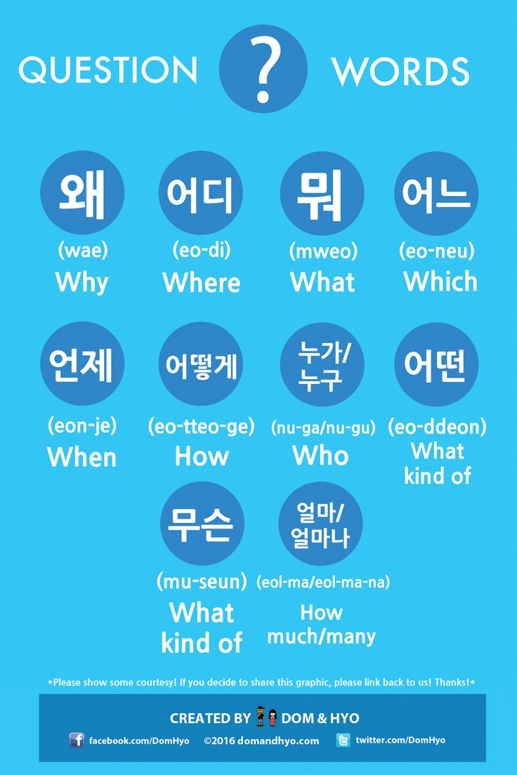 Question Words in Korean