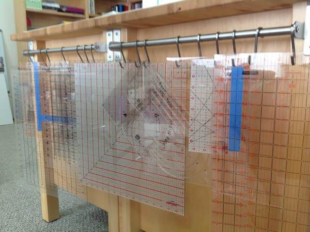 Quilting Ruler Storage Ideas : 17+ best images about Studio Ideas on Pinterest Studios, Quilt and Cutting tables