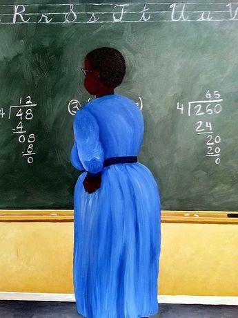 Artist Michelle Yvonne Hood Denman, painter, African American Art, school, education, teacher, genre, color  http://mydenman.wix.com/myhd