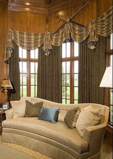 80 best Swags and Tails images on Pinterest Curtains, Swag and - swag curtains for living room