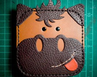 CUTE! horse Wallet Genuine Leather Coin Wallet