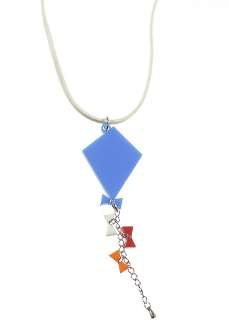 Go Fly a Kite acrylic necklace for kids