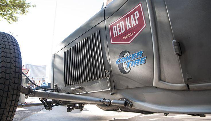 SEMA 2015 Feature-Heath Pinter's Red Kap Roadster - Coker Tire