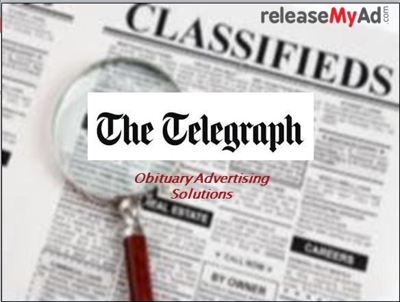 Now book The Telegraph Obituary advertisement online with releaseMyAd. Visit:- https://issuu.com/releasemyad/docs/the_telegraph_obituary_advertisemen