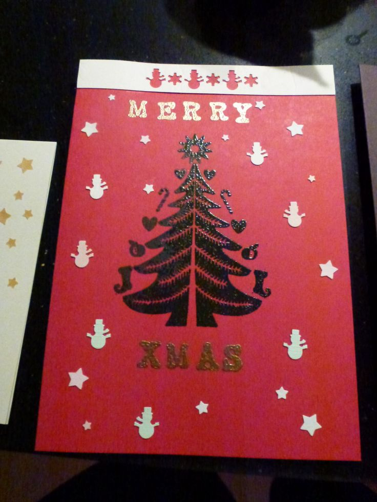 Xmas card - embossing method
