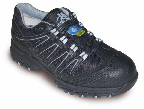 Kris Approach Athletic Static Dissipating Woman's Safety Shoe Reg. 119.99-Now 45.00  Action leather and mesh upper PK abrasion resistant lining Compression molded EVA midsole Steel toe Static Dissipating External TPU shank ANTI-SLIP and oil resistant rubber outsole Removable cushioned EVA foot bed Meets or exceeds ASTM 2413-05 requirements