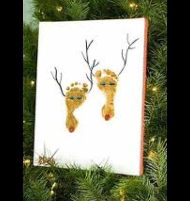 Reindeer foot painting